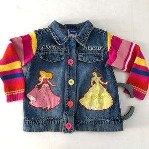 Toddler DISNEY Sz 3T Princess Jean Jacket